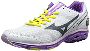 Mizuno Women's Wave Rider 17 Running Shoe,White,8.5 B US