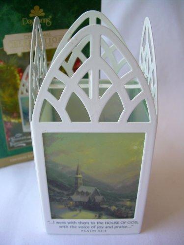 2004 Hallmark Ornament Moonlit Village By Thomas Kinkade, Painter Of Light