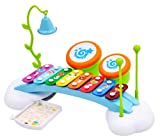 Rainbow Xylophone Piano Bridge for Kids with Ringing Bell and Drums