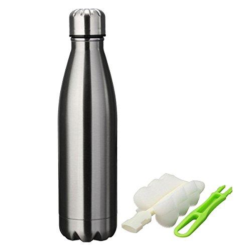 king-do-way-portatile-borraccia-in-acciaio-termica-bottiglia-sportive-thermos-con-spazzola-di-pulizi