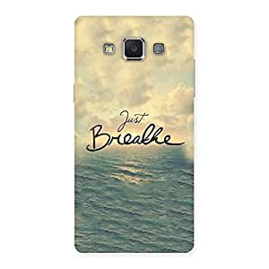 Delighted Just Breath Multicolor Back Case Cover for Samsung Galaxy A5
