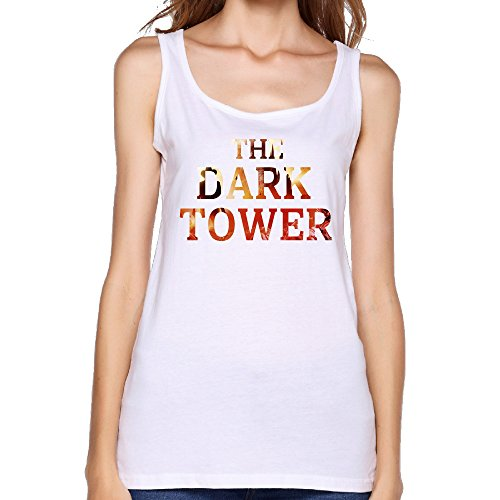 CYANY 2017 Horror Films Tower Womens Yoga Vest Round Collar White Tank Top (Top Ten Juicers compare prices)