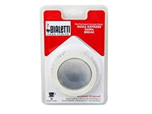 Bialetti Replacement Gasket and Filter For 3 Cup Stovetop Espresso Coffee Makers by Bialetti