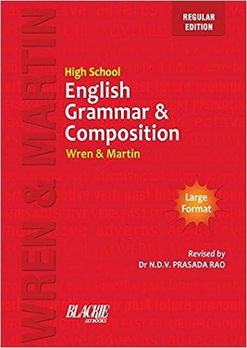 High School English Grammar & Composition by Wren & Martin Free PDF Download, Read Ebook Online