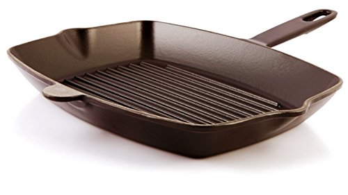 Cast Iron Grill Pan Made in EU Black
