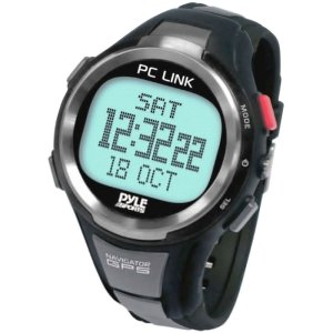 Pyle PGSPW1 GPS Heart Rate Monitor Digital Sports Watch with Speedometer, Chronograph and Navigation Running Gps
