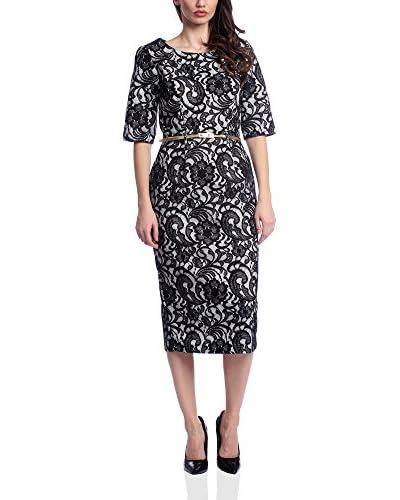 VERA RAVENNA Kleid schwarz/grau