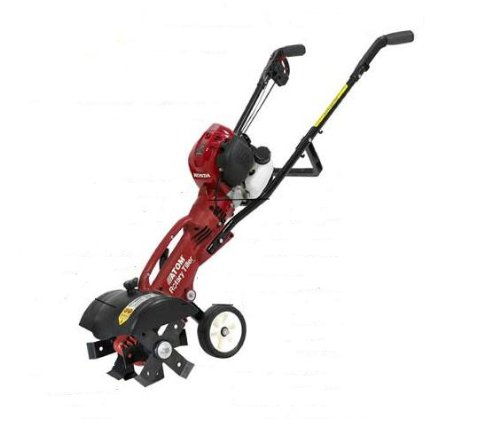 Atom 13-Inch 25cc 4-Stroke Honda GX25 Gas Powered 4-Tine Tiller / Cultivator