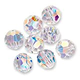 Swarovski Crystal Round 5000 8mm CRYSTAL AB Beads (8) 545002