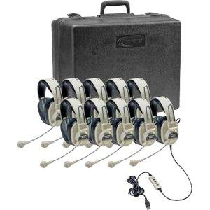Ergoguys 3066Usb-10 Califone Headphones 10-Pack 3066Usb With Carry Case Via Ergoguys