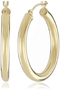 Duragold 14k Yellow Gold Hoop Earrings, (1