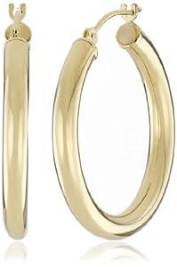 Duragold 14k Yellow Gold Hoop Earrings, (1