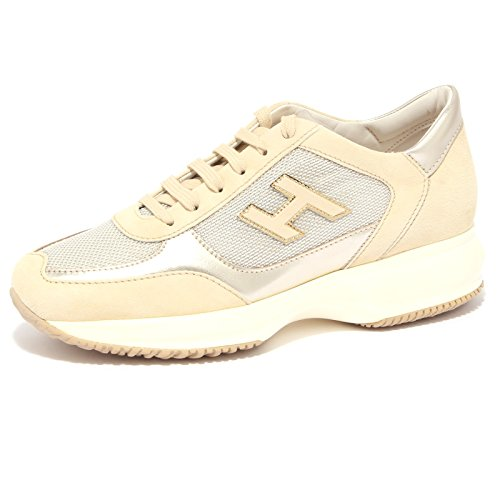 3962Q sneaker HOGAN INTERACTIVE beige scarpa donna shoe woman [38.5]