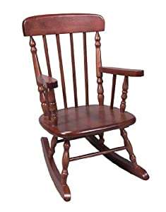 Gift Mark Kids Spindle Rocking Chair, Cherry, Wood