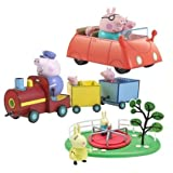 Peppa Pig Jumbo Playset With Train, Car, Roundabout & Figures