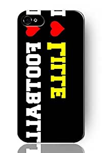 SPRAWL New Fashion Design Hard Skin Case Cover Shell for Mobile Phone Apple Iphone 5 5S--I Love Football