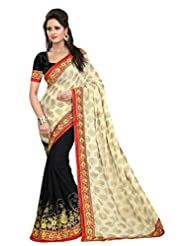 Astha Fashion Party Ware Embroidery Work Saree - B010VGUEYY