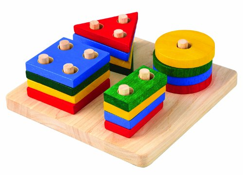 41p3KoRrrFL Cheap  Plan Toy Geometric Sorting Board