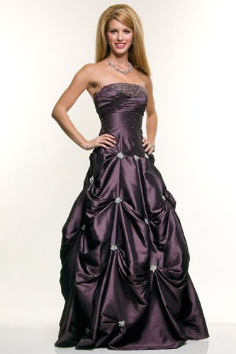 Ball Gown Strapless Wedding Prom Dress