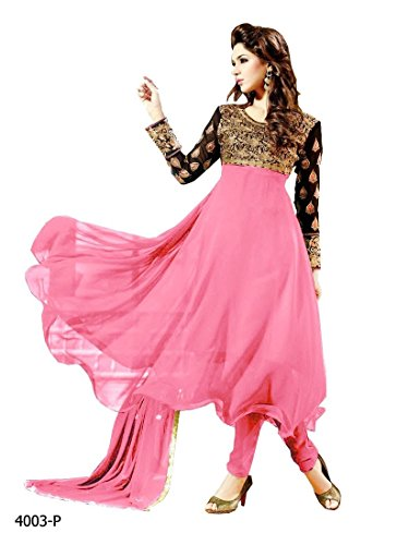 Shreeji Fashion New Exclusive Designer Pink Anarkali Suits