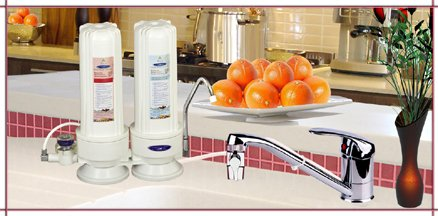 CRYSTAL QUEST® Countertop Replaceable Double Nitrate Water Filter System (Nitrate Water Filter compare prices)