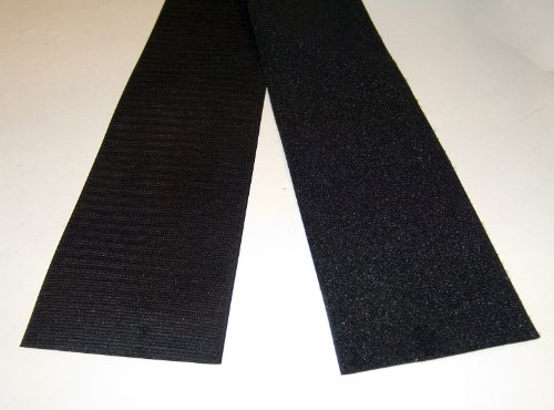 "Find Bargain Velcro 4"" Inch, Hook & Pile Tape, Black, Sew-on Type, 12 Inch Length's"