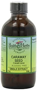 Alternative Health & Herbs Remedies Caraway Seed with Glycerine, 4 Ounce Bottle
