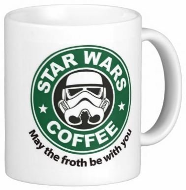 Best funny gift - 11OZ Coffee Mug - May The Froth Be With You - Perfect for birthday, men, women, present for him, her, dad, mom, son, daughter, sister, brother, wife, husband or friend.