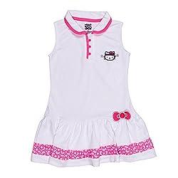 Hello Kitty Sports Girls Collared tennis dress, White, Size 14/16