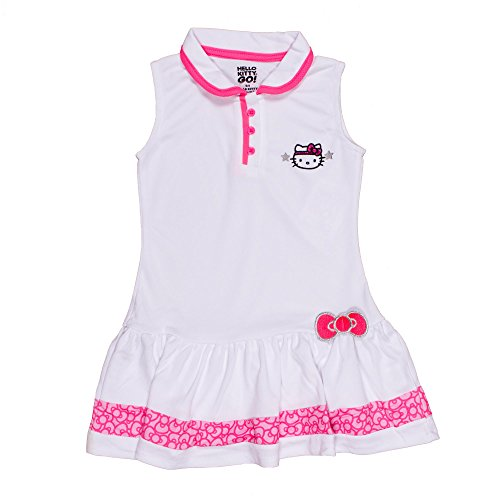Hello-Kitty-Girls-Collared-White-Tennis-Dress