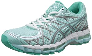 ASICS Women's Gel-Kayano 20 Lite Show Running Shoe,Glacier/Lite/Mint,7 M US