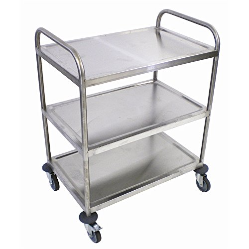 Craven Stainless Steel 3 Tier Clearing Trolley Capacity: 50kg 970(H)x821(W)x571(D)mm Weight 15kg