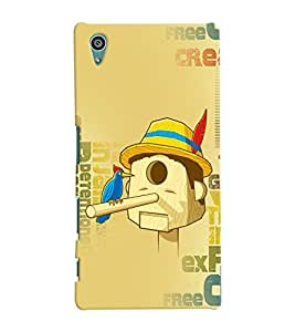 Fuson Meaningful Text Back Case Cover for SONY XPERIA Z5 - D3979