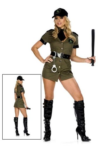 Be Wicked Women's Ms. Mary Jane Narc Narcotics Officer Costume