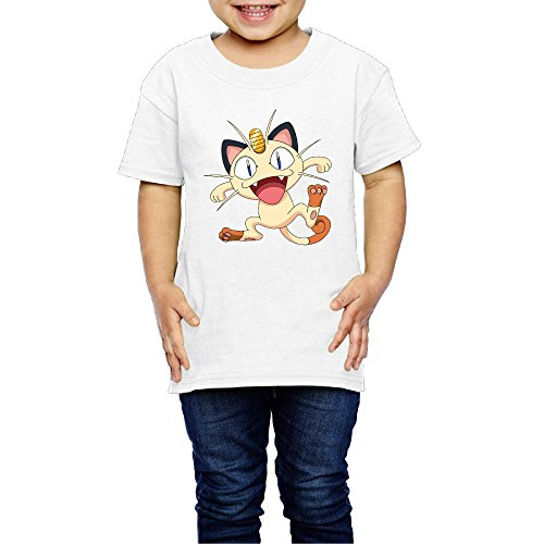 KIDDOS Toddler Kids Funny Meowth Tees 3 Toddler