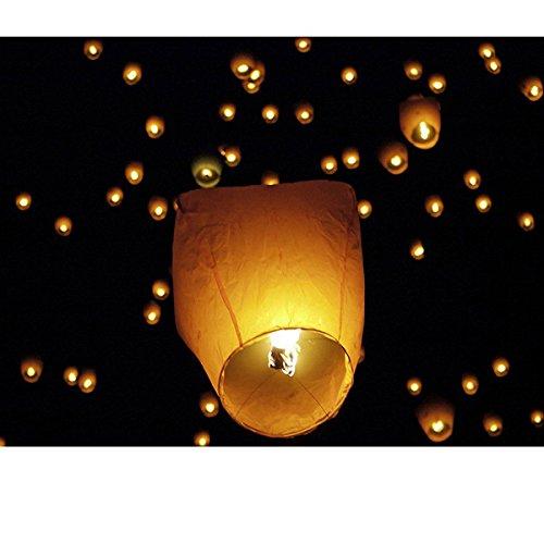 LEORX Lanterne cinesi 10pz ovale Lanterna del cielo Lanterna Kongming cinese che desiderano ...