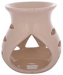 BJE Ceramic Diffuser/ Oil Burner (White, 7.5 x 7.5 x 9 cms)