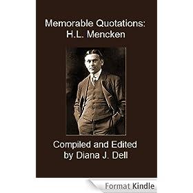 Memorable Quotations: H.L. Mencken (English Edition)