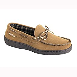 Hideaways by L.B. Evans Men\'s Marion Moccassin,HashBrown,13 3E US