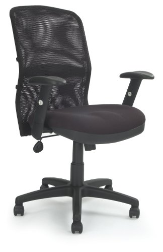 Eliza Tinsley Mesh Back Managers Armchair with Adjustable Lumbar Support 6200ATGFBK