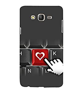 printtech Love Heart Keyboard Back Case Cover for Samsung Galaxy On5