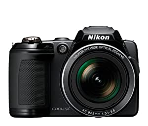 Nikon COOLPIX L120 14.1 MP Digital Camera with 21x NIKKOR Wide-Angle Optical Zoom Lens and 3-Inch LCD (Black) (OLD MODEL)