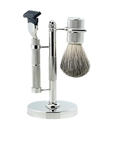 Bey-Berk Shaving Set, Silver
