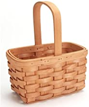 Bulk Buy Darice DIY Crafts Wood Country Basket with Fixed Handle 85 inches 6-Pack 2848-22