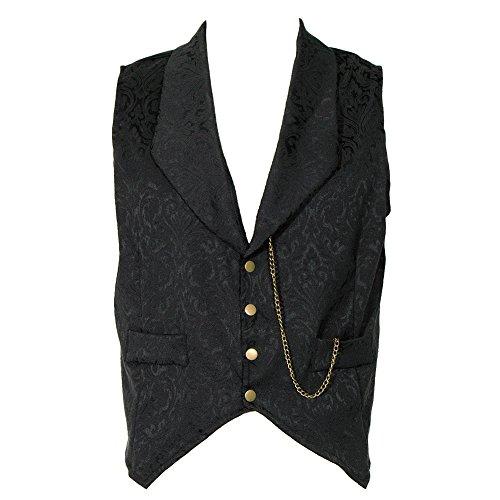 Golden-Steampunk-Mens-Brocade-Waistcoat