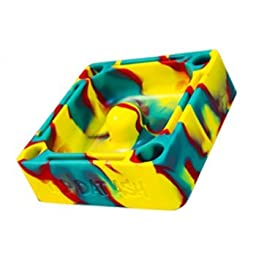 Tap Dat Ash Premium Silicone Ashtray - Limited Edition - Fiery Rasta