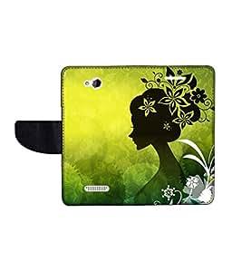 KolorEdge Printed Flip Cover For HTC Desire 616 Multicolor - (50KeMLogo09989HTC616)