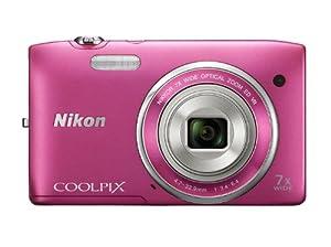 Nikon Coolpix S3500 Digitalkamera (20 Megapixel, 7-fach optischer Zoom, 6,7 cm (2,7 Zoll) TFT-LCD, bildstabilisiert) pink
