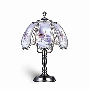 Welcome iHome K308 Glass Winter Lighthouse Scene Touch Lamp, Black Chrome at Sears.com