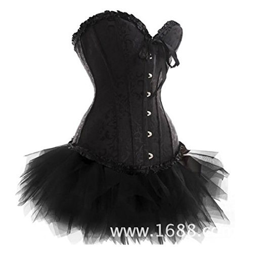 Elegant Lady's Halloween Lace up Boned Corset Tutu Fancy Dress Outfit Costumes